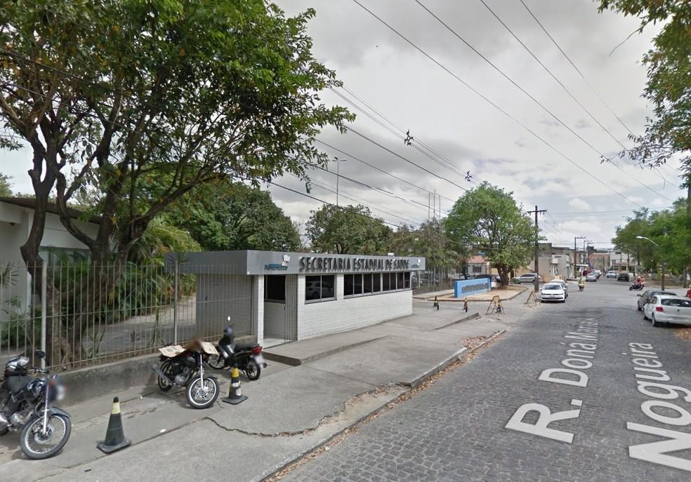 Secretaria de Saúde de Pernambuco fica no Bongi, na Zona Oeste do Recife — Foto: Reprodução/Google Street View