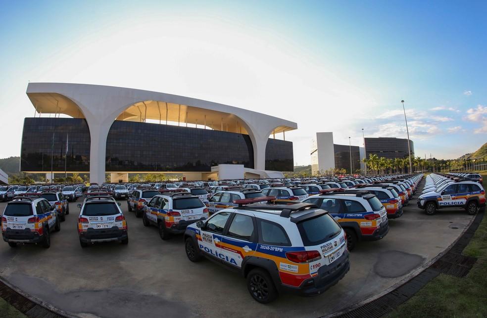 Novas Viaturas da PM na Cidade Administrativa em Belo Horizonte — Foto: Gil Leonardi/Imprensa MG