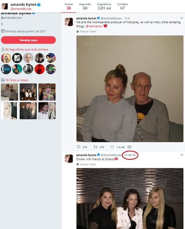 Último post de Amanda Bynes havia sido feito em fevereiro (Foto: Reprodução/Twitter)
