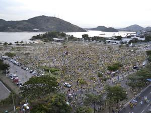 Manifestação reuniu cerca de 120 mil pessoas em Vitória, estima organização (Foto: Viviane Machado/ G1)