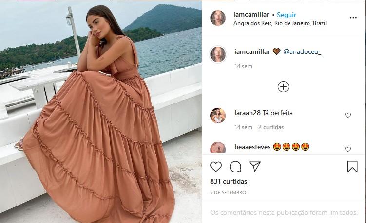 Camilla Landim em Angra dos Reis (Foto: Reprodução/Instagram)