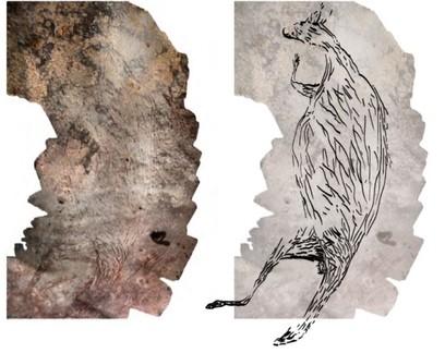 Pintura rupestre mais antiga da Austrália tem 17 mil anos e é um canguru