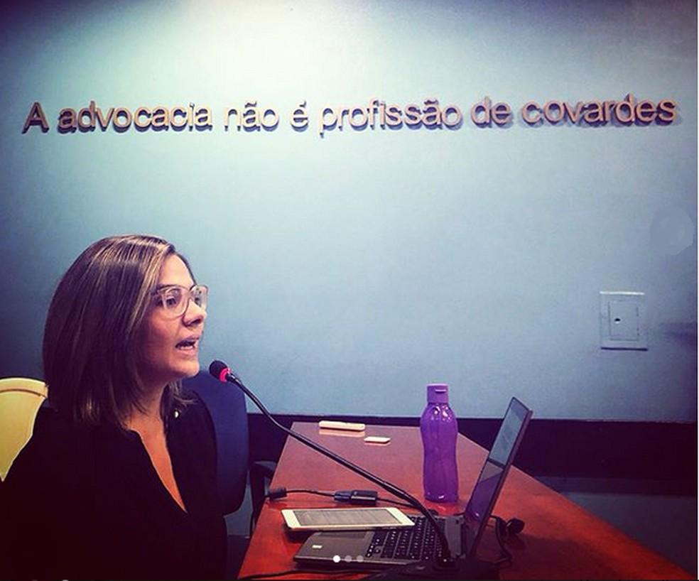Advogada Natasha Vasconcelos, ativista pelo direito das mulheres — Foto: Arquivo Pessoal
