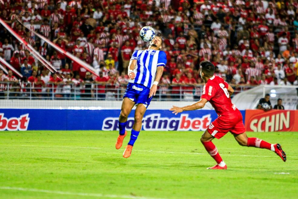 Richard Franco fez o gol do CSA no clássico de 2020 — Foto: Ailton Cruz/Gazeta de Alagoas