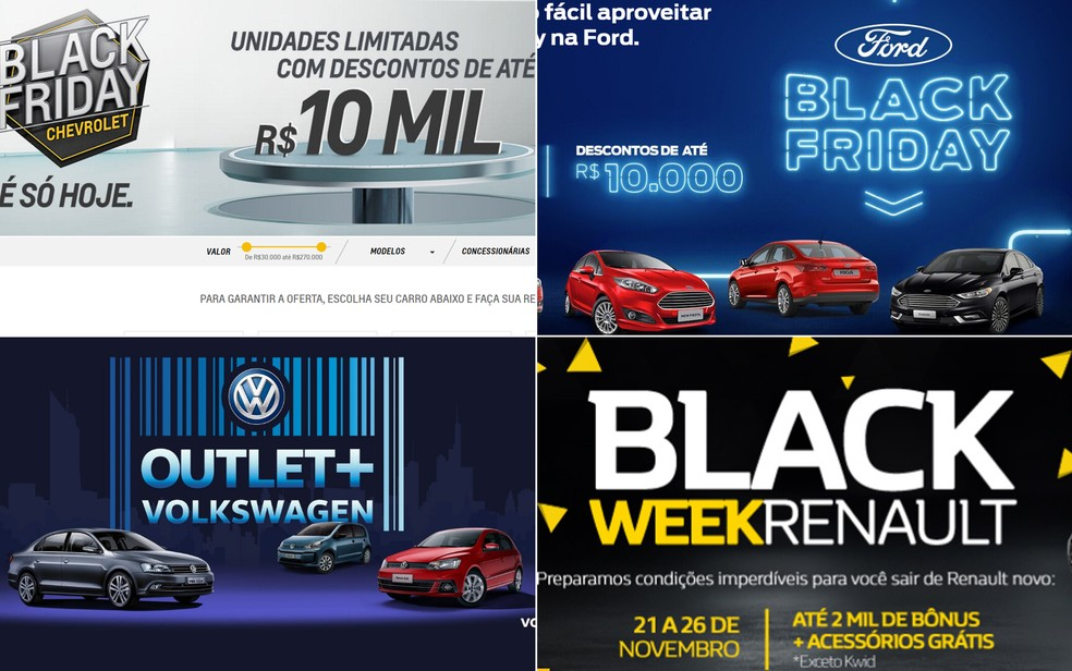 104b161f118b7 ... Montadoras promovem ofertas para Black Friday 2017 — Foto  Reprodução
