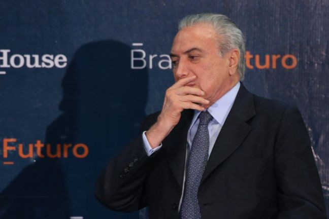 Michel Temer, presidente da República 01 (Foto: André Coelho / Agência O Globo)