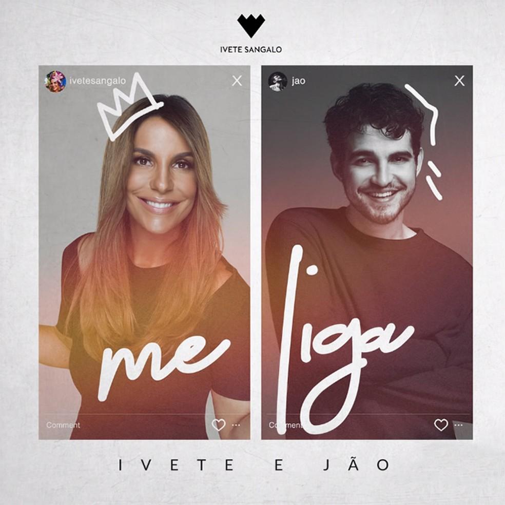 Capa do single 'Me liga', de Ivete Sangalo com Jão — Foto: Reprodução