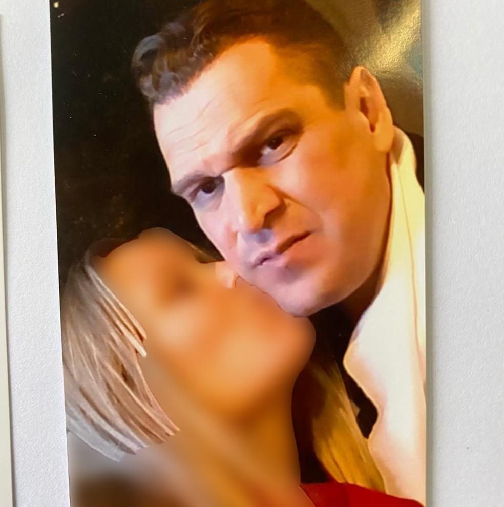 Eduardo Fauzi e a namorada russa — Foto: Reprodução