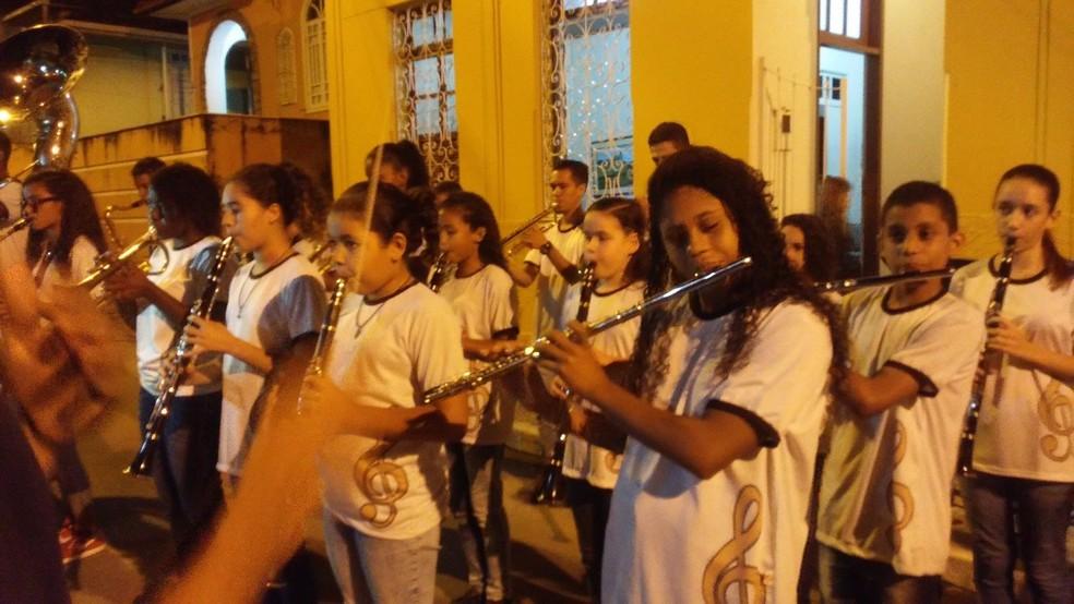 Apresentação da banda no último Natal (Foto: Divulgação/Banda Jesus de Nazaré)