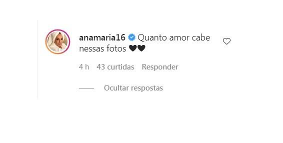 Ana Maria Braga se declara a Varuna (Foto: Reprodução)