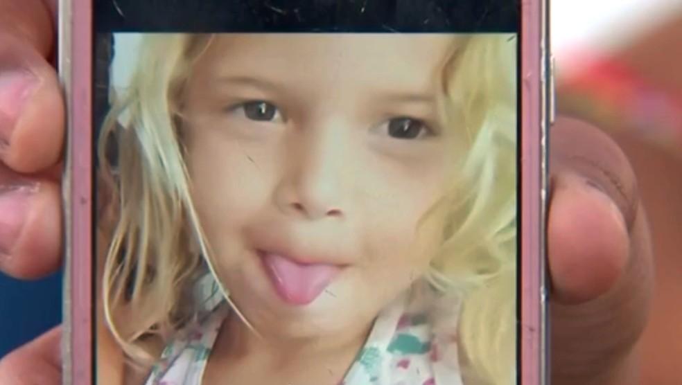 Menina de 4 anos foi picada por escorpião em Cabrália Paulista (Foto: Reprodução/TV TEM)