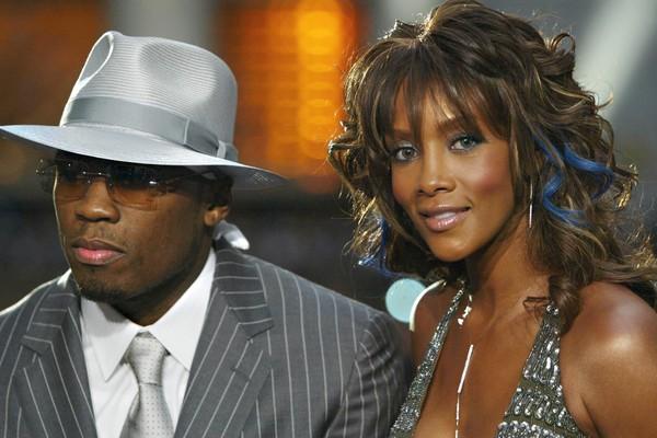 O rapper 50 Cent e a atriz Vivia A. Fox na época em que namoravam (Foto: Getty Images)