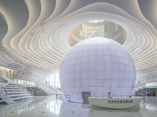 China tem biblioteca com capacidade para mais de um milhão de livros (Foto: Divulgação)