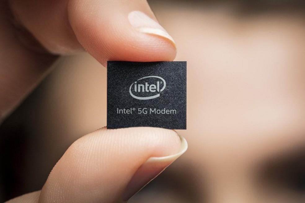 Chip 5G da Intel deve vir embarcado em aparelhos a partir de 2020  (Foto: Divulgação/Intel)