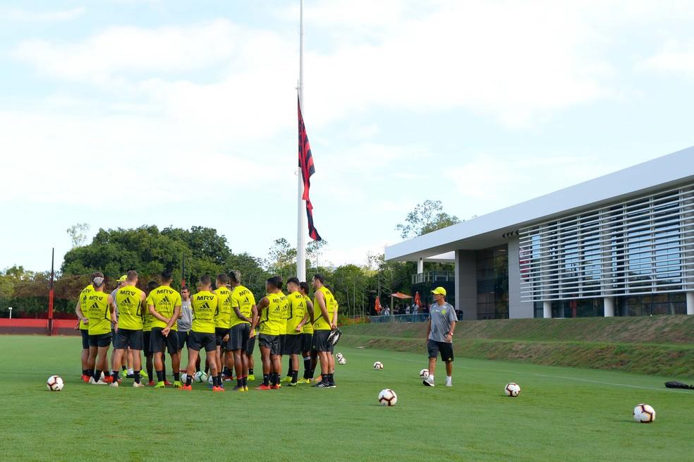 Flamengo já voltou a treinar no Ninho do Urubu — Foto: Alexandre Vidal / Flamengo