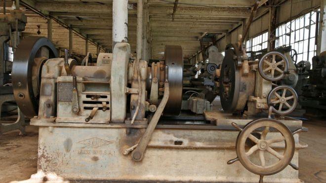 """O maquinário usado era """"Made in USA"""" (Foto: Getty Images/BBC)"""