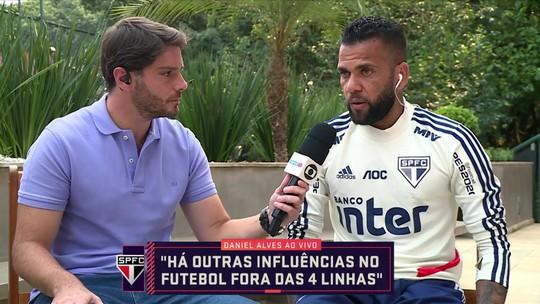 Posicionamento, finalizações do São Paulo e mea culpa: Daniel Alves fala ao Seleção SporTV