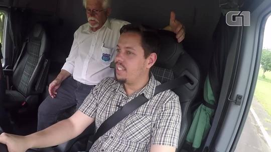 VÍDEO: Como é dar uma voltinha em um caminhão de 53 toneladas