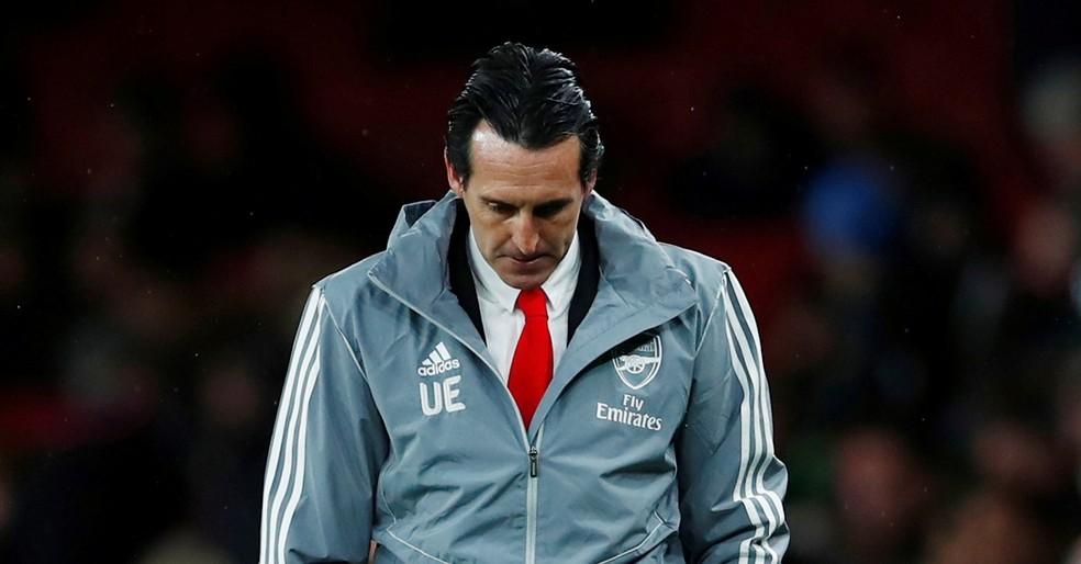 Unai Emery saiu em baixa do Arsenal — Foto: Eddie Keogh/Reuters