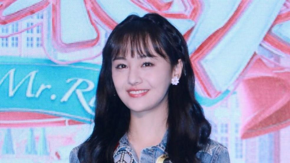 A atriz Zheng Shuang foi criticada por seu alto salário — Foto: Getty Images via BBC