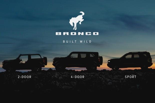 A Bronco tem uma gama de quatro carros: Bronco 2 e 4P e o Bronco Sport (Foto: Divulgação)