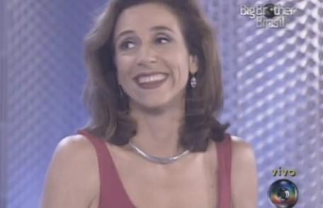 """Marisa Orth chegou a dividir a apresentação com Pedro Bial no """"BBB"""" 1. Porém, seu desempenho não agradou e, após algumas semanas, ela acabou afastada Reprodução"""