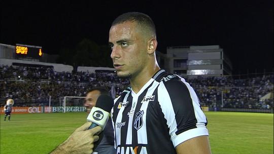 """Arthur comemora vitória do Ceará e acredita em """"volta por cima"""" na Série A"""