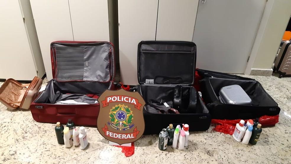 Três mulheres são presas no aeroporto de Salvador após tentarem embarcar para Portugal com drogas escondidas em mala — Foto: Divulgação/Polícia Civil