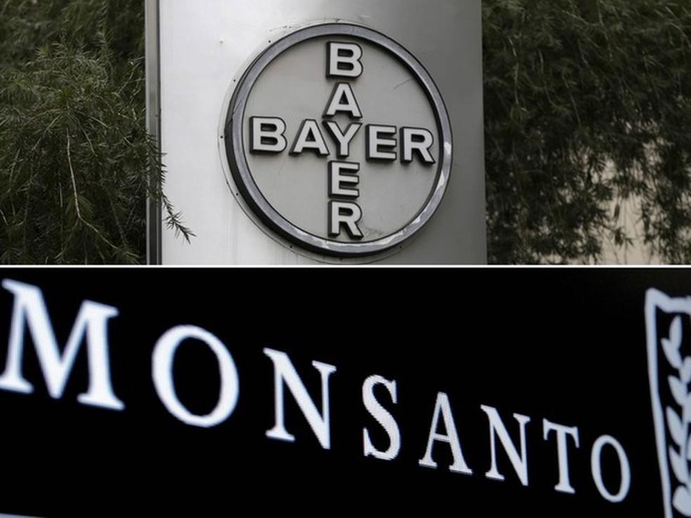 Bayer anunciou que fechou acordo pela compra da Monsanto  (Foto: Marco Bello/Reuters/Arquivo; Brendan McDermid/Reuters/Arquivo)