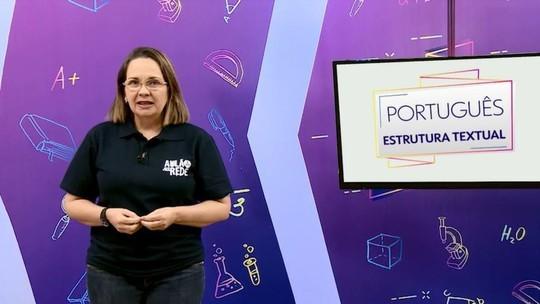 Português: professora explica sobre estrutura textual