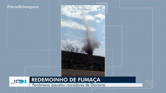 Vídeos mostram redemoinhos de fumaça em Diorama e Edeia