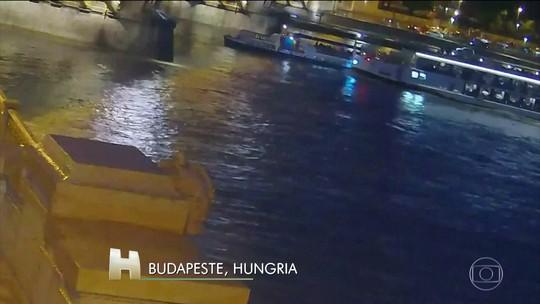 Dois barcos de turistas bateram no rio Danúbio, na Hungria, durante uma tempestade