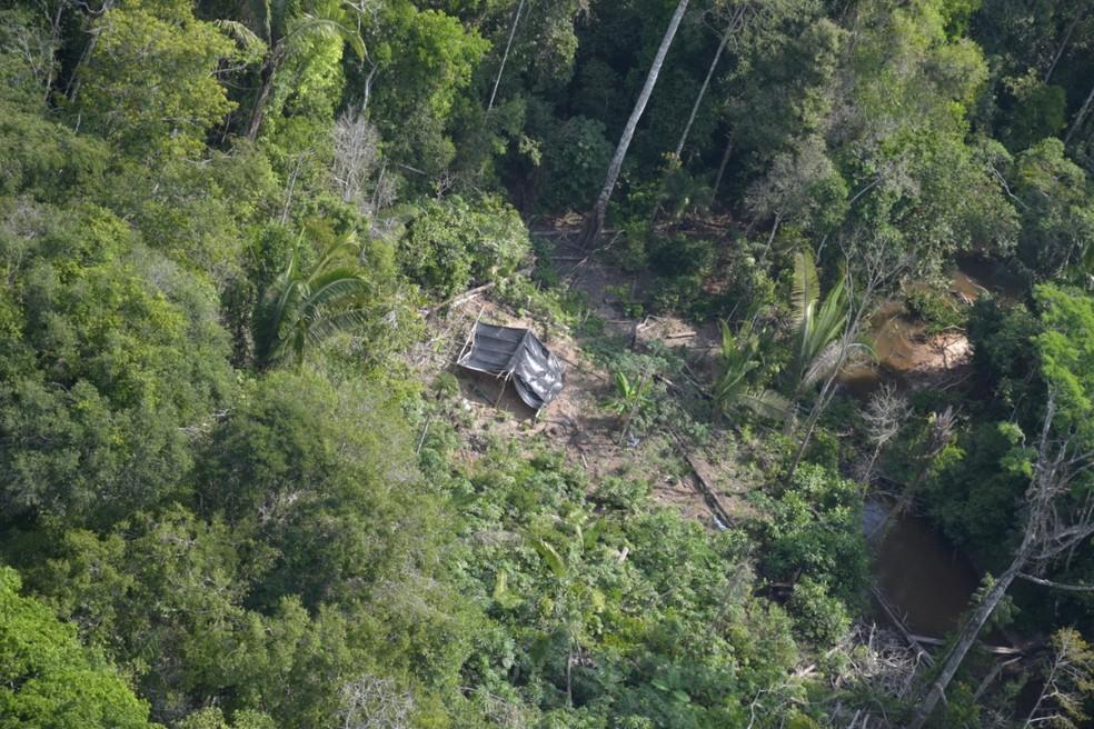 Acampamentos foram destruídos na Operação Kuraritinga — Foto: PF/Divulgação