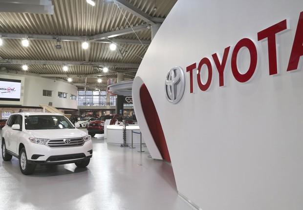 Estande da montadora japonesa Toyota em feira de automóveis (Foto: Akio Kon/Bloomberg via Getty Images)