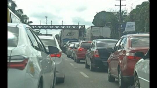Trânsito lento marca saída de Belém no penúltimo final de semana de julho