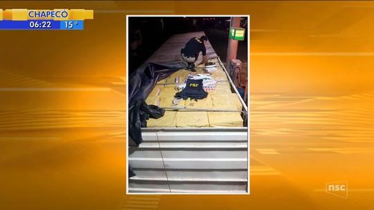 PRF prende homem e apreende carreta com 450 mil maços de cigarros contrabandeados em SC
