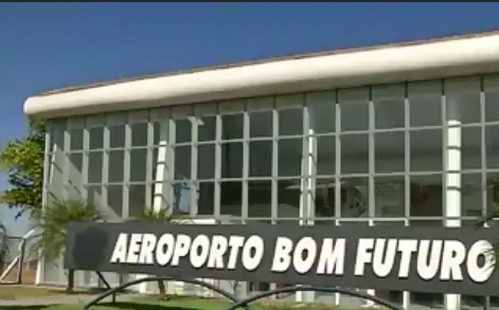 Aeroporto de Lucas do Rio Verde — Foto: Reprodução/TVCA