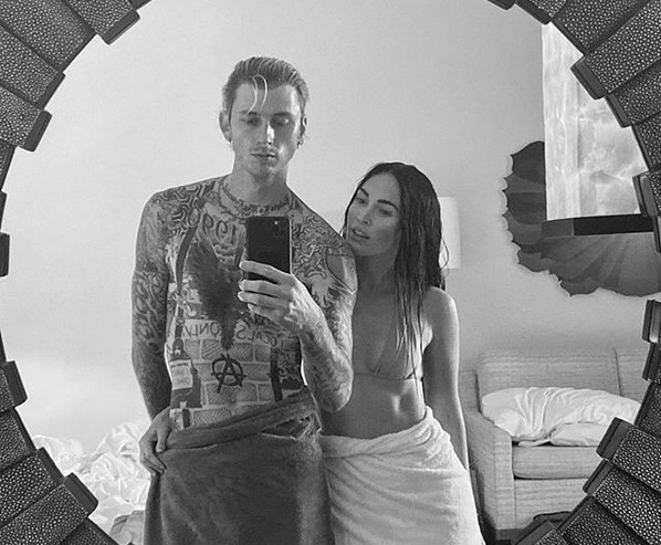 O rapper Machine Gun Kelly e a atriz Megan Fox (Foto: Instagram)