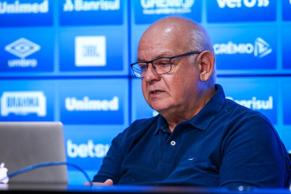Romildo Bolzan, presidente do Grêmio — Foto: Lucas Uebel/Divulgação Grêmio