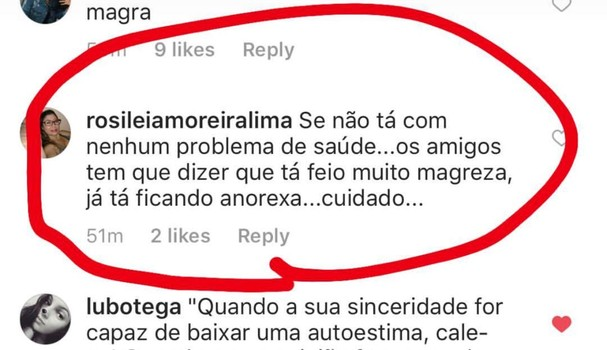 Comentários na foto de Bruna Marquezine (Foto: Instagram/Reprodução)