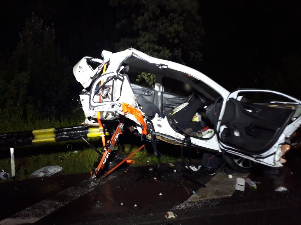 Três mulheres morrem e dois passageiros ficam feridos em acidente na Serra de SC