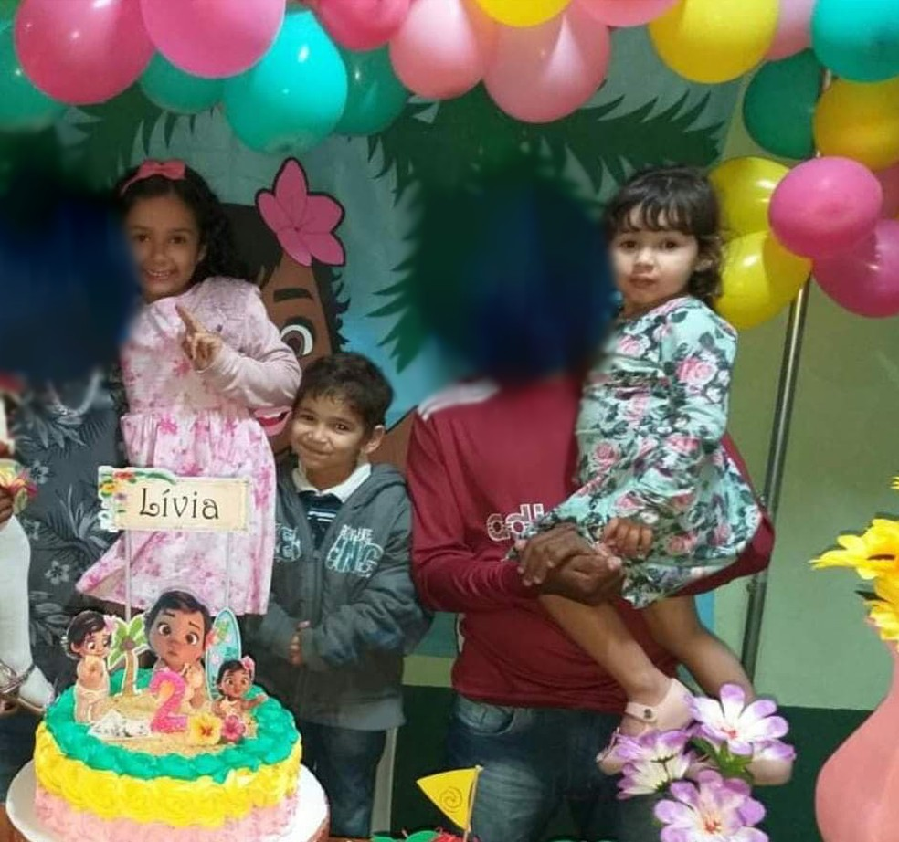 Da esquerda para a direita: Marya Clara, Cauã e Marya Alice — Foto: Arquivo Pessoal