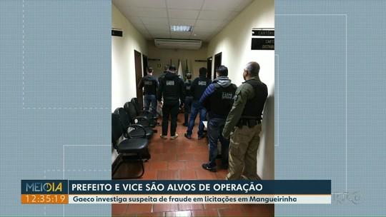 Prefeito e vice-prefeito de Mangueirinha são alvos de operação do Gaeco
