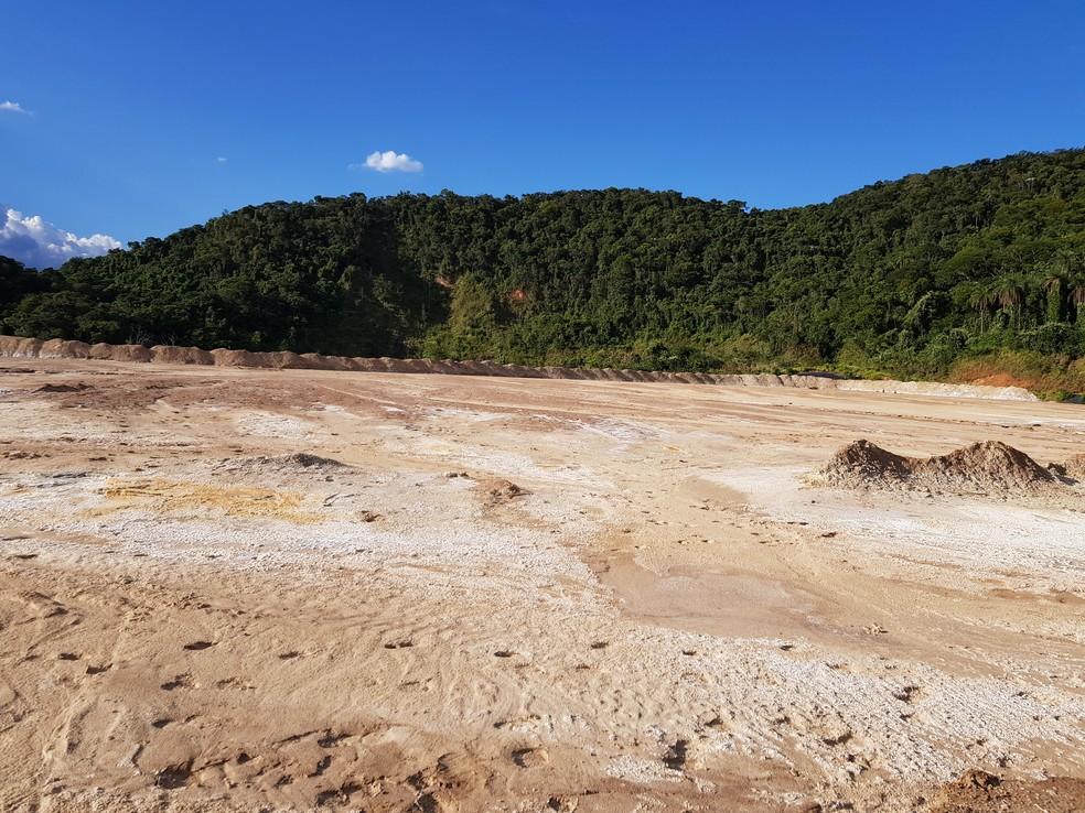 Segundo secretário de meio ambiente de Rio Acima, maior risco em caso de rompimento é de contaminação química no manancial do Rio das Velhas — Foto: Humberto Trajano/G1