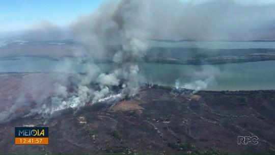 Incêndio atinge Parque Nacional de Ilha Grande há seis dias