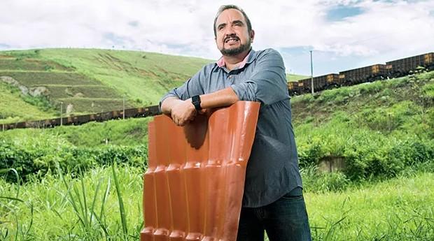 Leonardo Retto, da Telite: telhas feitas com embalagens descartadas pelo varejo renderam faturamento de R$ 70 milhões (Foto: Marcelo Correa)