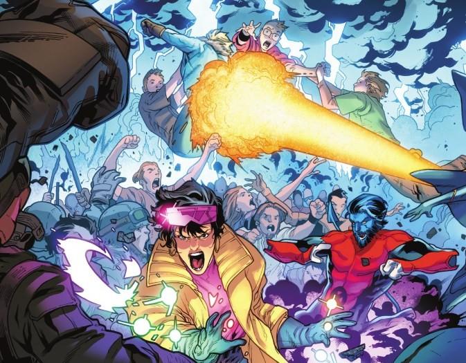 Uma cena da revista dos X-Men que causou polêmica com líderes religiosos hindus (Foto: Reprodução)