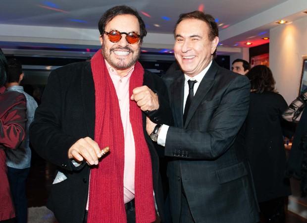 O diretor Wolf Maya e o apresentador Amaury Jr. (Foto: Samuel Chaves/Brazil News)