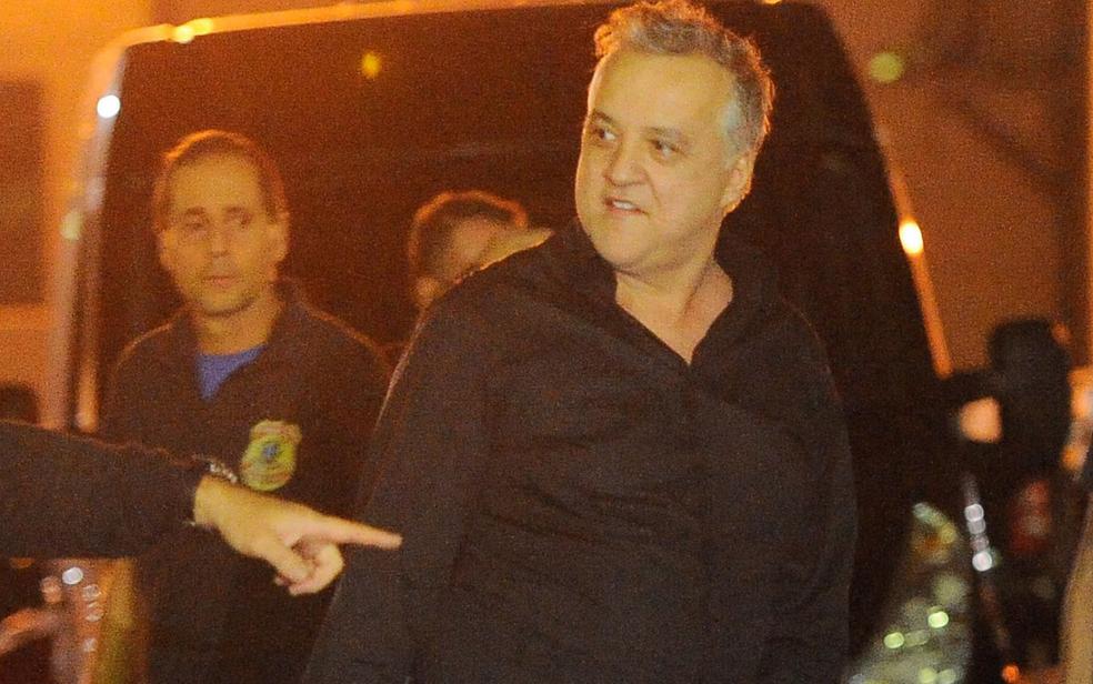 Imagem de junho de 2016 quando Carlinhos Cachoeira prestou depoimento à PF (Foto: Fernando Frazão/Agência Brasil )