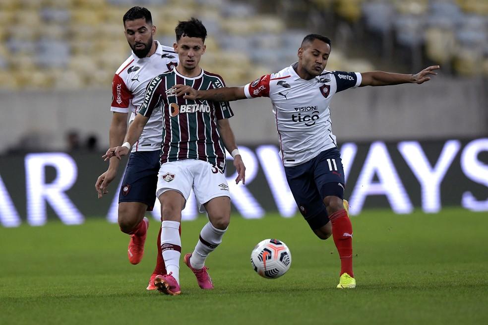 Gabriel Teixeira, Fluminense x Cerro Porteño, Libertadores — Foto: Divulgação/Conmebol